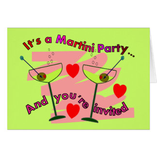 Martini Party--You're Invited  Party Invitations Greeting Card