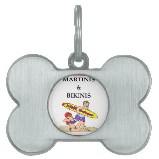 MARTINI PET NAME TAGS