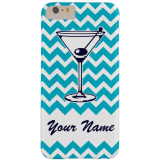 Martini Pictogram with Blue Chevron Pattern Barely There iPhone 6 Plus Case