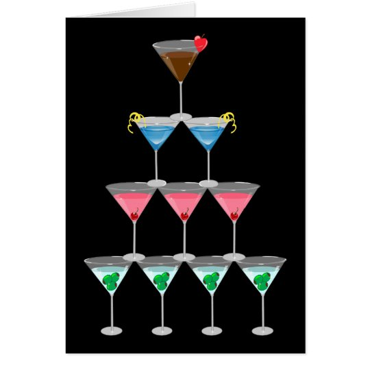 Martini Pyramid Card