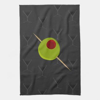 Martini Time Black Kitchen Towel