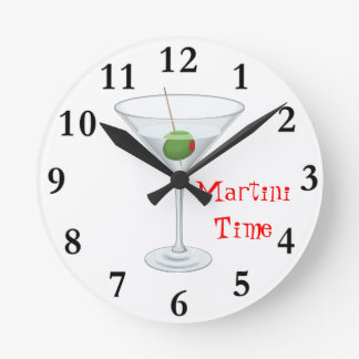 Martini Time Cocktail Wall Clock