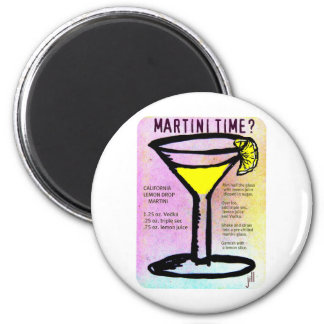 MARTINI TIME LEMON DROP PASTEL PRINT with RECIPE b Magnet