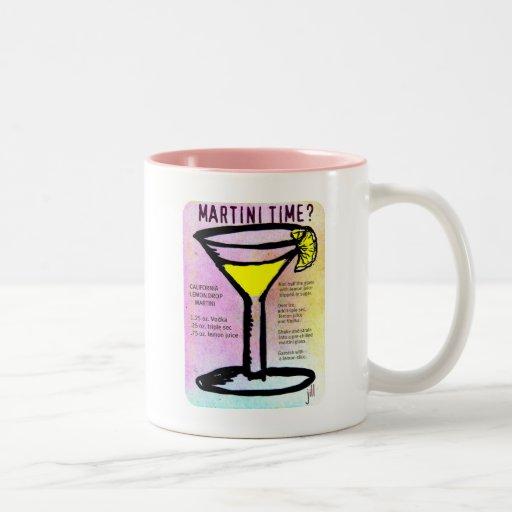 MARTINI TIME LEMON DROP PASTEL PRINT with RECIPE b Coffee Mug