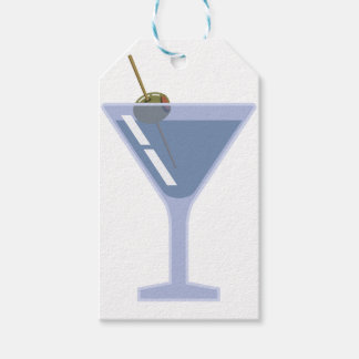 Martini With Olive Gift Tags