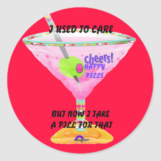 martiniheliumballoon,  I used to carenow I take... Classic Round Sticker