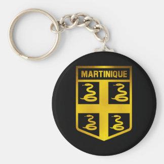 Martinique Emblem Basic Round Button Keychain
