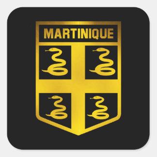 Martinique Emblem Square Sticker
