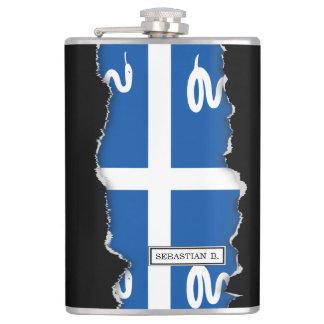 Martinique Flag Hip Flask