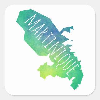 Martinique Square Sticker