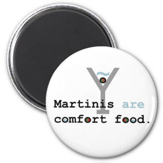 Martinis are Comfort Food 2 Inch Round Magnet