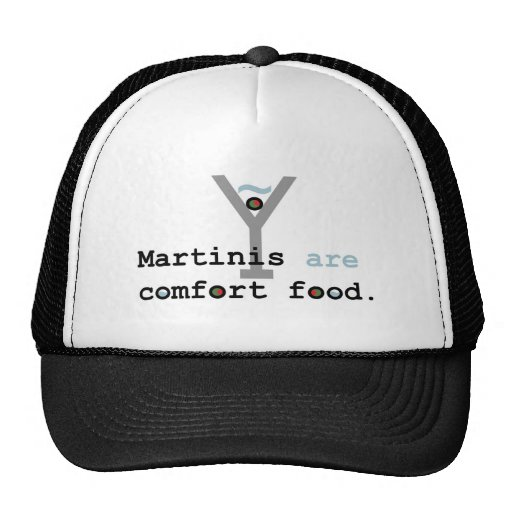 Martinis are Comfort Food Mesh Hats