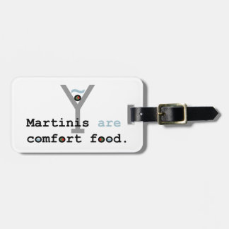 Martinis are Comfort Food Luggage Tag