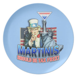 MARTINIS Should Be Tax Free Plate