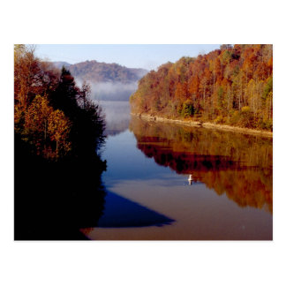 Martins Fork Lake in Autumn Postcard