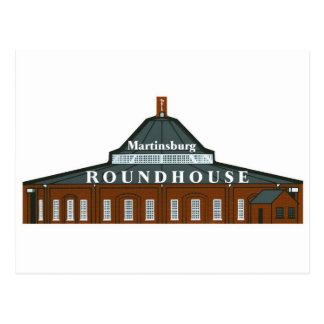 Martinsburg Roundhouse Postcard