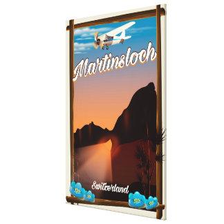 Martinsloch Switzerland travel poster Canvas Print