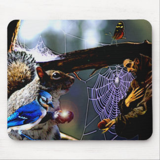 Marty and Saint Francis Mouse Pad