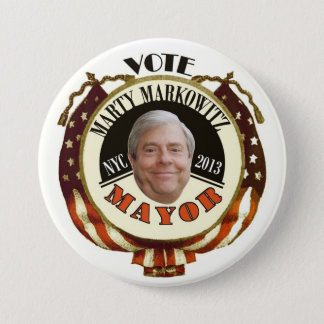 Marty Markowitz NYC Mayor 2013 3 Inch Round Button