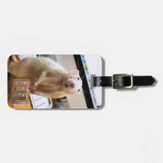 Marty Mouse Ready for Travel!  (luggage tag) Luggage Tag