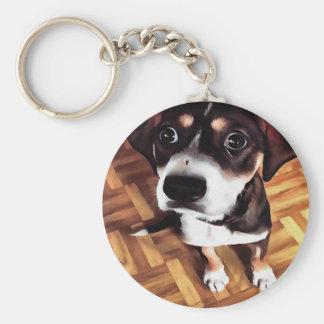 Marty The Soulful Eyed Dog Keychain