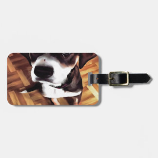 Marty The Soulful Eyed Dog Luggage Tag
