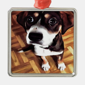 Marty The Soulful Eyed Dog Metal Ornament