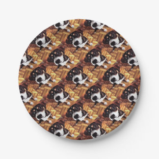 Marty The Soulful Eyed Dog Paper Plate