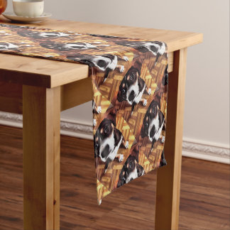 Marty The Soulful Eyed Dog Short Table Runner