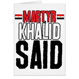 Martyr Khalid Said Card