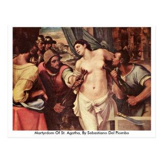 Martyrdom Of St. Agatha, By Sebastiano Del Piombo Postcard