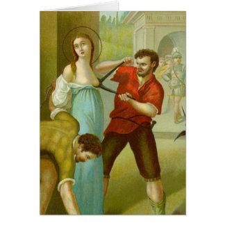Martyrdom of St. Agatha (M 003) Card