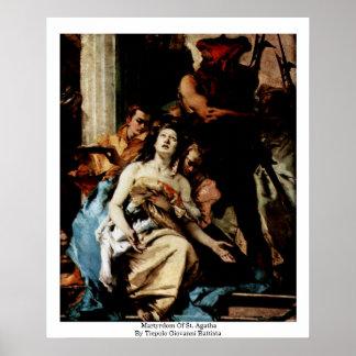Martyrdom Of St. Agatha Poster