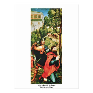Martyrdom Of St. James By Albrecht Dürer Postcard