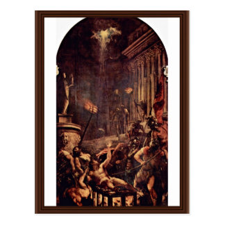 Martyrdom Of St. Laurenzius By Tizian Postcard