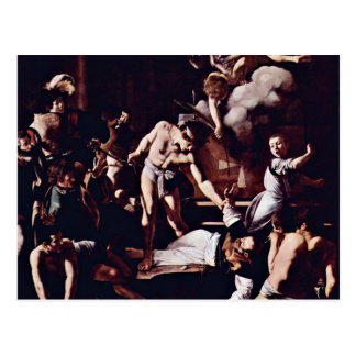 Martyrdom Of St. Matthew By Michelangelo Merisi Da Postcard