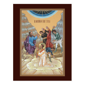 Martyrdom of St Stephen Prayer Card