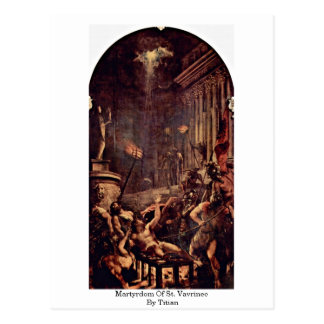 Martyrdom Of St. Vavrinec By Titian Postcard