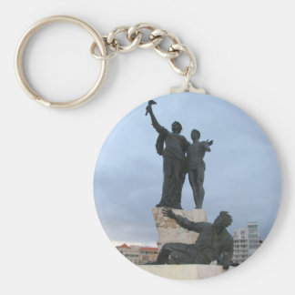 Martyrs Square Basic Round Button Keychain