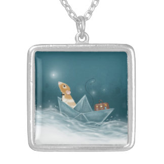Martys Sailboat Into Imaginashun Necklace