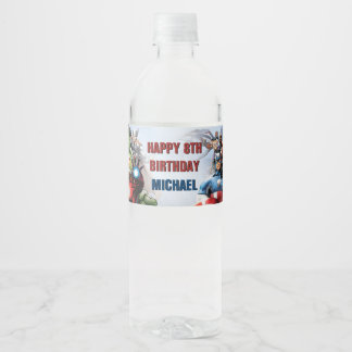 Marvel | Avengers - Birthday Water Bottle Label