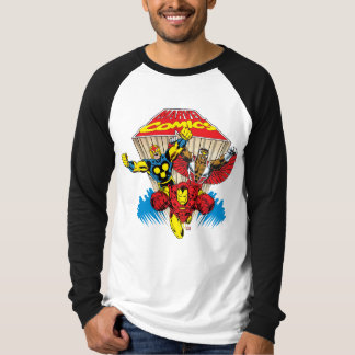 Marvel Comics Flying Super Heroes T-Shirt