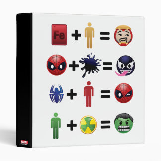 Marvel Emoji Character Equations 3 Ring Binder