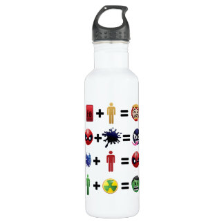 Marvel Emoji Character Equations 710 Ml Water Bottle