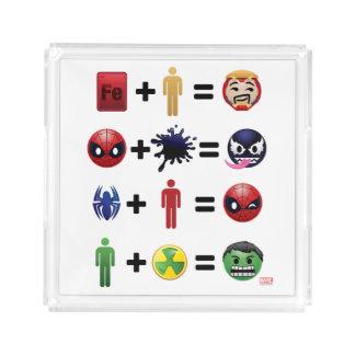 Marvel Emoji Character Equations Acrylic Tray