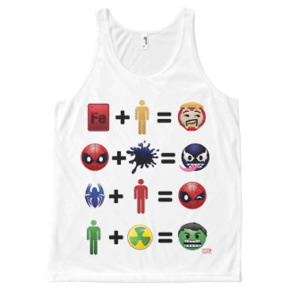 Marvel Emoji Character Equations All-Over-Print Tank Top