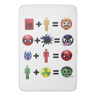 Marvel Emoji Character Equations Bath Mat