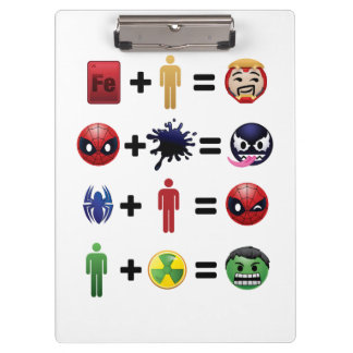 Marvel Emoji Character Equations Clipboard