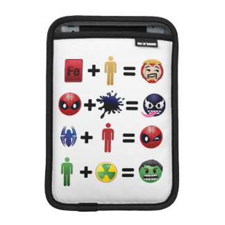 Marvel Emoji Character Equations iPad Mini Sleeve