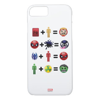 Marvel Emoji Character Equations iPhone 8/7 Case